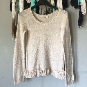 Anthropologie - Moth Knit Sweater with fringe